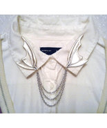 Dragon wing collar pins silver bat wing sweater c thumbtall