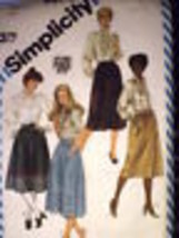 6370 Vintage Simplicity Pattern Set of Skirts 8 SEWING - $6.94