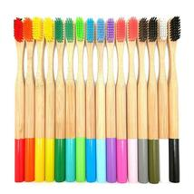 Bamboo Toothbrush Colorful Head Natural Eco Friendly Anti Bacterial Soft Bristle image 6