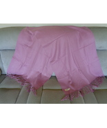 Royal Rossi Pink 100% Cashmere Wrap / Shawl 82 X 27 Fringe So Soft - $41.65