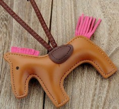 Women Bag Pendant Handmade PU Leather Horse Animal Keychain Jewelry Acce... - $3.97