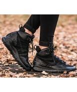New NIKE LUPINEK FLYKNIT wmn USsz's: 5; 6.5; 7 Shoe Sneakers BLACK 86251... - $99.99
