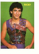 Menudo Ricky Meléndez  teen magazine pinup clipping 80's sparkle shirt - $3.50