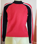 Puma Vintage womans sweater top shirt size XS red and black long sleeves  - $4.75