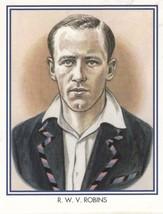 RWV Walter Robins Middlesex Cricket Club Cricketer Rare Cigarette Card - $11.99