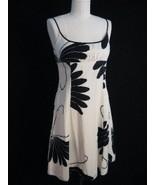 TRINA TURK SILK SUN DRESS in a fab BLACK & WHITE MOD BUTTERFLY GRAPHIC P... - $29.99