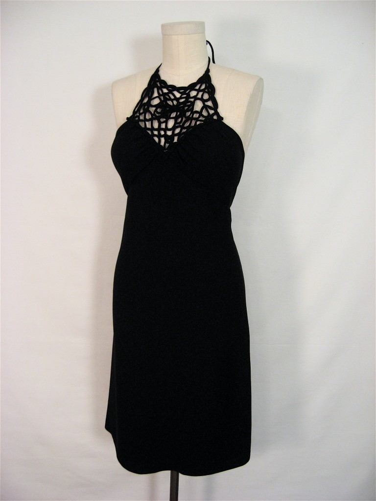 WHITE HOUSE BLACK MARKET SEXY HALTER COCKTAIL DRESS 0 S Bonanza