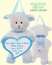 LambTreasure Pocket Keepsake a-door-nimal Blue Trim - $18.00