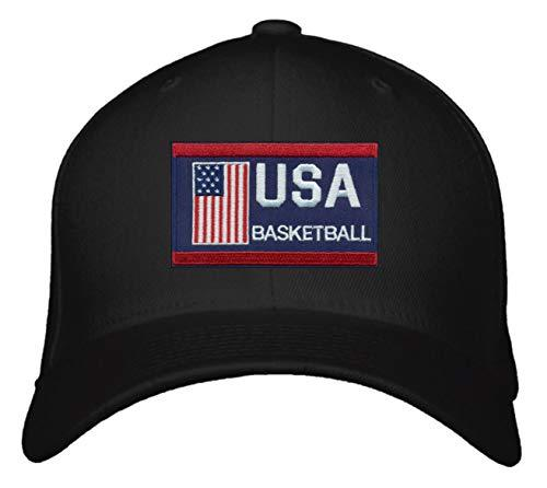 USA Basketball Hat - Adjustable Black Snapback Cap