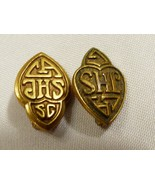 VTG Lot of 2 JHS  CA Los Angeles Junior High School Bronze Color Entanmann - $23.76
