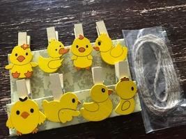 120pcs Clips,Yellow Duck Small Folder Photo Wooden Peg,Pin Clothespin,Gi... - $18.00