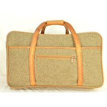 "Hartmann Luggage 21"" Tweed & Leather Vintage Carry on image 9"