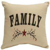 """FAMILY "" Table Top 12"" Toss Pillow  FARMHOUSE COUNTRY DECOR - £22.71 GBP"