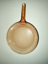 Corning Amber Vision Ware 10 in Skillet Fry Pan Waffle Bottom Glass Cookware USA - $24.75