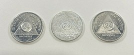 AA  24 hour Recovery Chips Coin Tokens Medallion To Thine Own Self Be Tr... - $14.03
