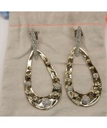 Alexis Bittar Gold Crystal Molten Dot Link Large Drop Earrings NWT - $162.86