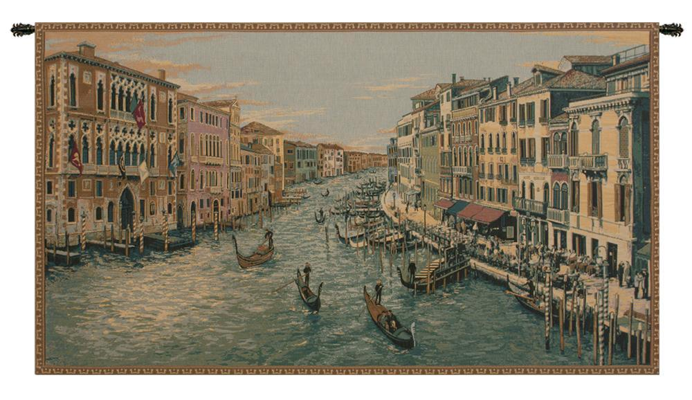 Grand Canal Italian Tapestry Wall Hanging