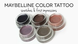 Maybelline Color Tattoo Cream Eyeshadow Buy 1 GET 1 FREE You choose shade - $11.99