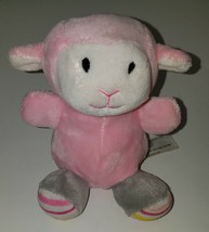 "Animal Adventure Pink Sheep Lamb Plush 6"" Stuffed Animal Toy Gray Stripe... - $14.80"