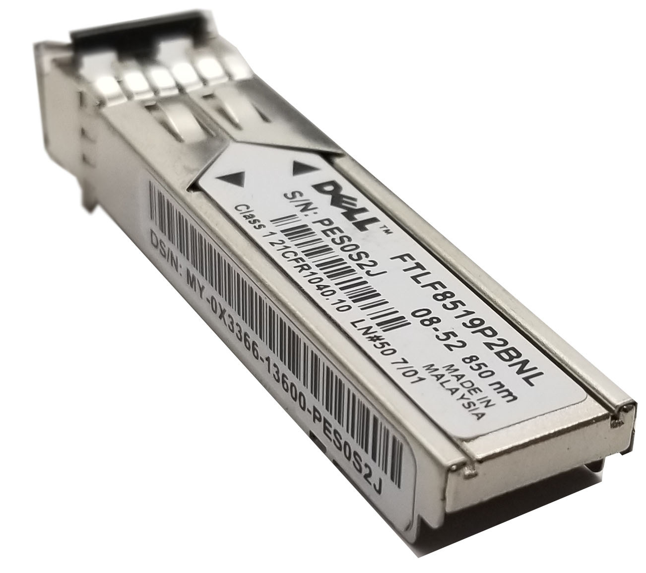 Dell PowerConnect SFP 1000base-SX FTLF8519P2BNL 850nm GF76J Bin:8