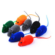 Cute 2 PCS Mouse Squeak Sound Funny Rat Playing Toy For Cat Kitten Pet P... - $3.00