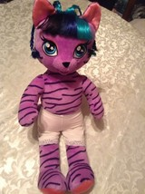 July 4th Build A Bear tiger Honey Girls Teegan 21 inch purple plush outfit - $25.99