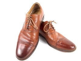 Cole Haan Men's Size 9 Brown Cambridge cap Toe Leather Oxfords Derby Shoes $260 - $79.02