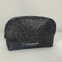 Coach Cosmetic Bag Metallic Black Zip Soft Promotional Item M8 - $29.39