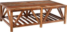 Coffee Table DOVETAIL PEYTON Distressed Paint Medium Brown - €864,76 EUR