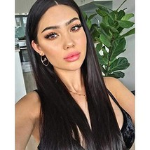 G&T Wig Black Lace Front Wig Long Straight Black Wig Heat Resistant Synthetic Ha