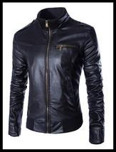 The Best Quality Uk Size XS-XL 2018 New Arrival men's zipper design leat... - $48.24