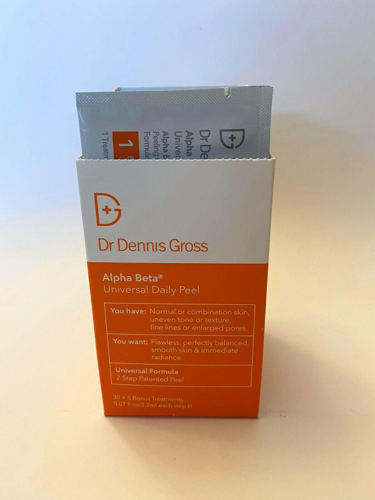 Dr Dennis Gross Alpha Beta universal Daily Peel 30 Count 10/21 Expiry Open Box - $48.22