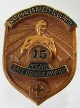 VINTAGE NATIONAL SAFETY COUNCIL SAFE DRIVER AWARD GREEN CROSS PIN BADGE - $7.96
