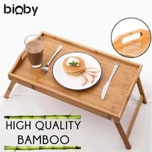 Multifunctional Foldable Bamboo Wood Bed Tray Breakfast Laptop Desk Tea ... - $38.04