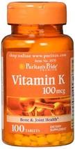 Puritans Pride Vitamin K 100 mcg Tablets, 100 Count - $5.56