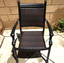 Outdoor Chairs Set Of 2 Cast Aluminum Patio Furniture Dining Balcony image 3
