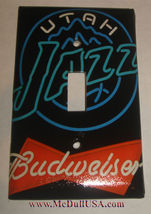Utah Jazz Budweiser Beer Light Switch Duplex Outlet Cover Plate Home decor image 1