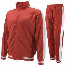 vkwear Men's Striped Athletic Running Jogging Gym Slim Fit Sweat Track Suit Set image 12