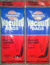Nautavac Vacuum Bags Style 210 for Hoover Upright Type C Disposable 2 Four Packs - $8.90