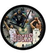 "Milwaukee Bucks Homemade 8"" NBA Wall Clock w/ Battery Included - $23.97"