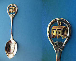 INDIANA Souvenir Collector Spoon Collectible State COVERED BRIDGE Charm - $4.95