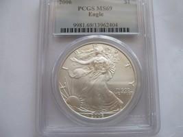 2006 , American Silver Eagle , PCGS , MS 69 - $69.30