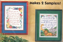 Bucilla Graces Sampler Pair Thank You Prayers Stamped Cross Stitch Kit 64387 - $24.95