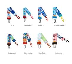 Boys Pacifier Clips - Ulubulu - Binky Straps - Pacifier Leash - Dummy Chain - $7.99