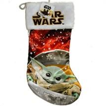 Kurt Adler Star Wars Mandalorian The Child Baby Yoda Stocking w Fuzzy Pl... - $15.83