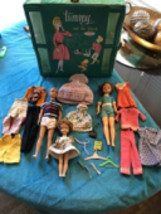 VINTAGE IDEAL 1960's Original TAMMY & Family Dolls Labled Clothes & Case... - $143.54