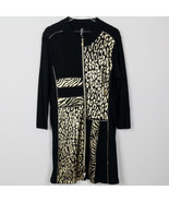 Berek True Vintage Wild Animal Print Art to Wear Black Full Zip Dress Go... - $49.49
