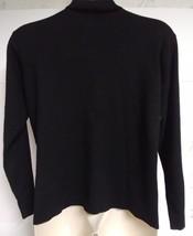Eddie Bauer mens XXL Tall turtleneck sweater black wool blend long sleeve - $19.79