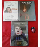 KIESLOWSKI'S THREE COLORS TRILOGY: BLUE, WHITE, RED DVD, 2003 NEW, SEALED - $45.00