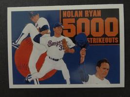 1990 Upper Deck #34 Nolan Ryan Texas Rangers 5000 Strikeouts Baseball Card - $1.00